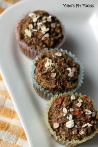 Flaxseed, Wheat, Bran, Carrot, and Apple Muffins