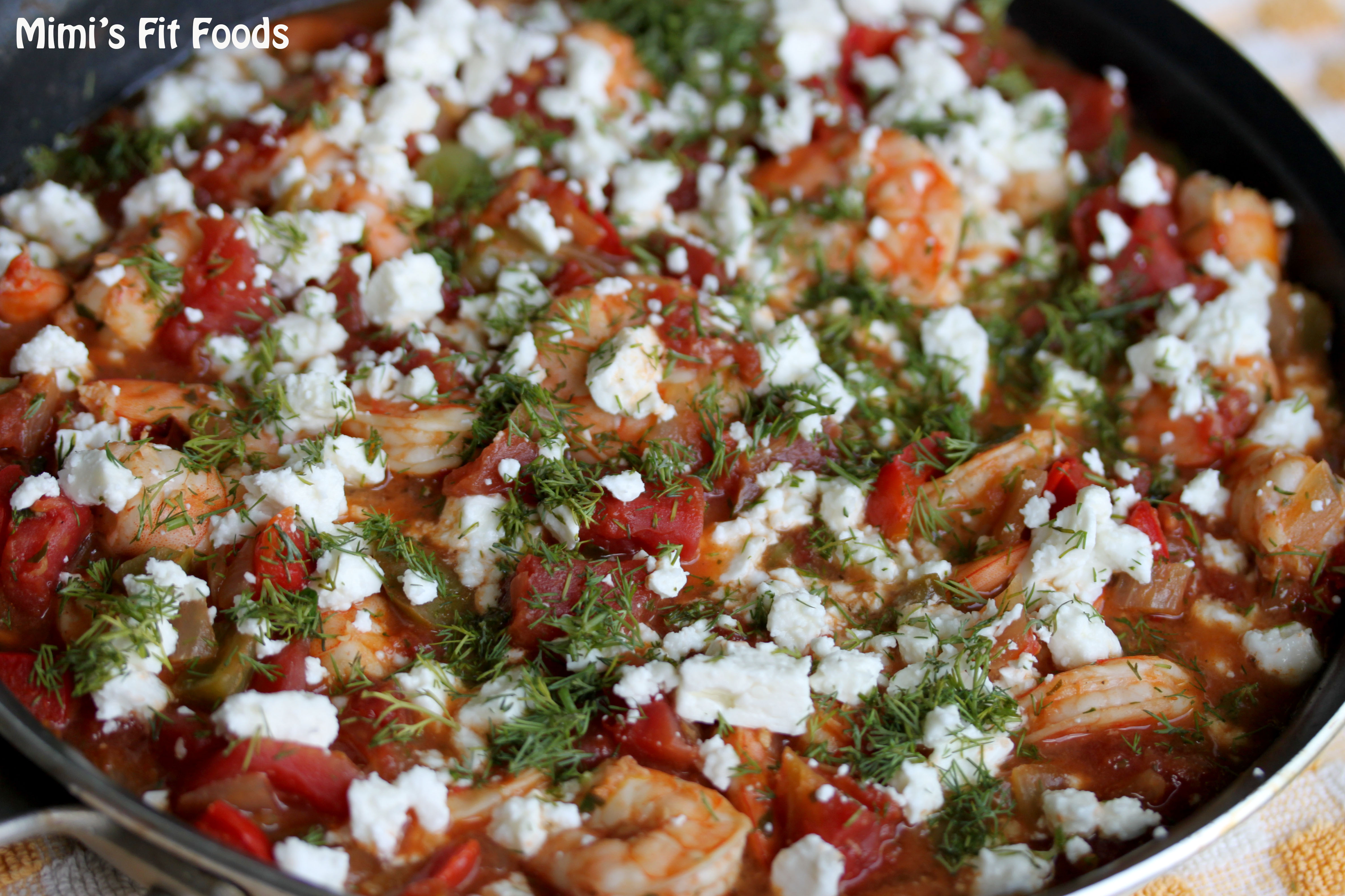 Greek-Style Shrimp With Feta-Stuffed Peppers Recipe — Dishmaps