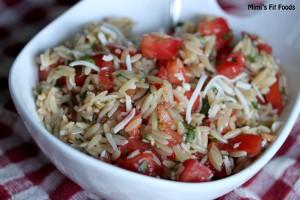 Tomato, Basil, & Mozarella Orzo Pasta Salad