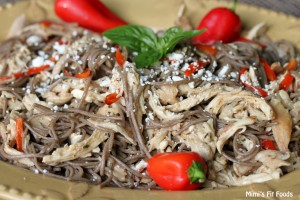 Soba Noodles with Balsamic Dressing and Chicken