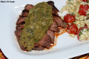 Grilled Steak with Roasted Pablano Sauce