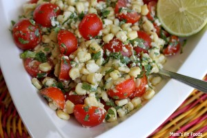 Tomato, Corn, Cilantro, Lime, Queso Fresco