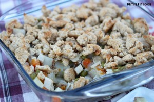 Chicken Pot Pie with a Crumble Biscuit Topping