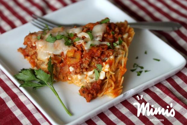Turkey Spaghetti Pie-Mimi's Fit Foods