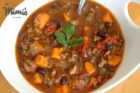 Black Bean and Sweet Potato Chili-Mimi's Fit Foods