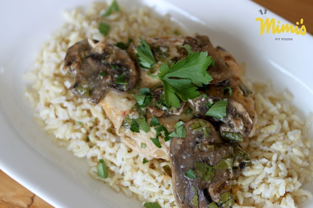 Lighter Chicken Marsala - Mimi's Fit Foods