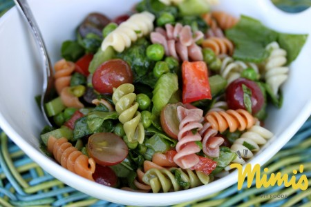 Spinach and Grape Pasta Salad - Mimi's Fit Foods