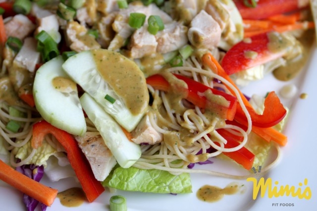 Thai Peanut and Chicken Salad - Mimi's Fit Foods