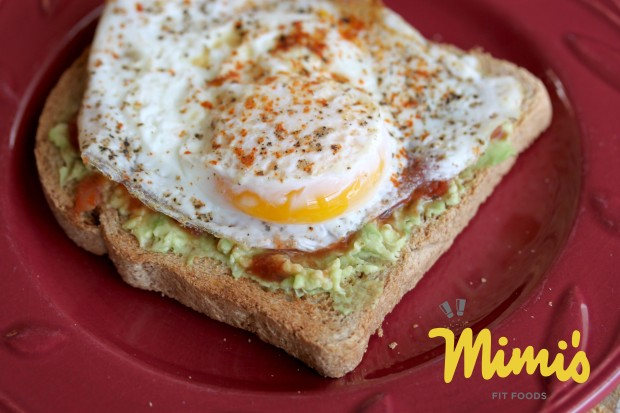 Avocado and Egg Over Toast - Mimi's Fit Foods