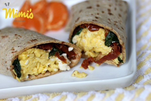Spinach, Sun-Dried Tomato and Feta Egg Wrap1 - Mimi's Fit Foods