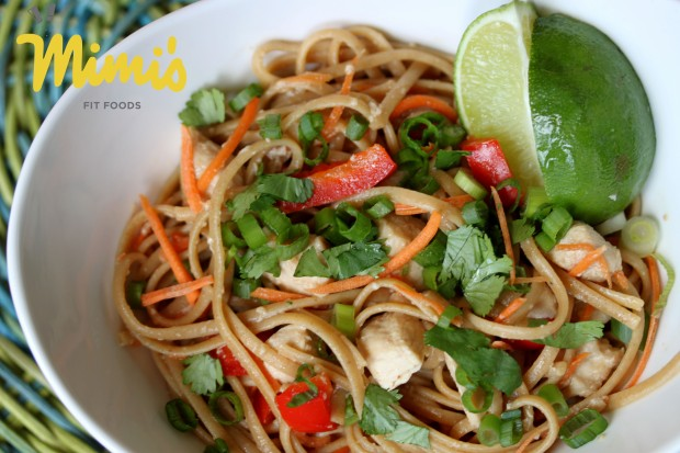 Spicy Thai Noodles with Chicken - Mimi's Fit Foods