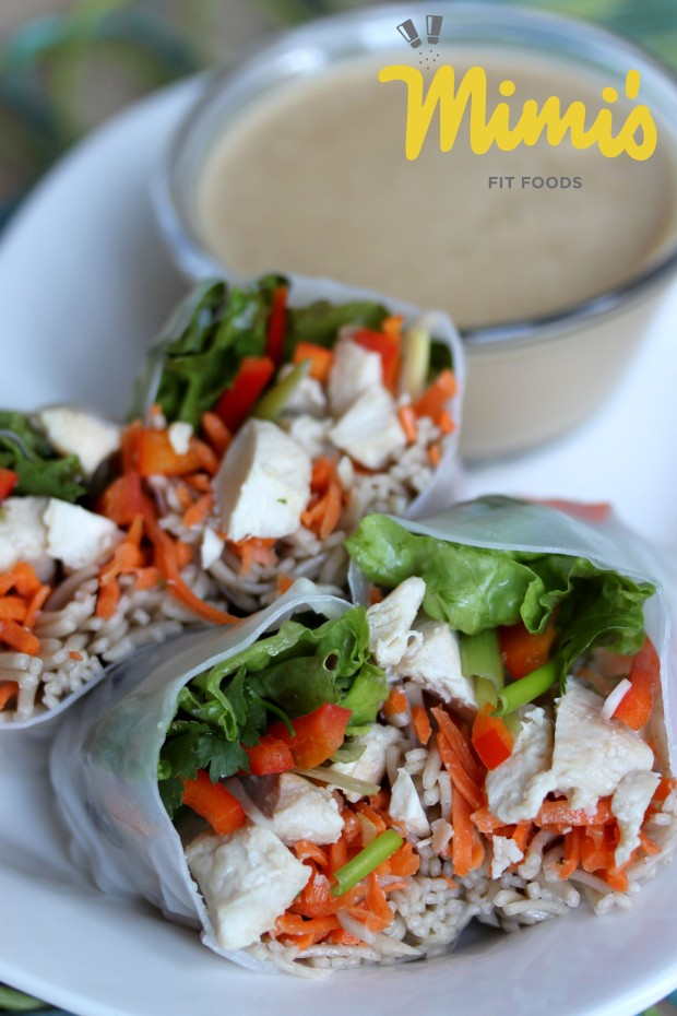 Chicken and Soba Spring Rolls - Mimi's Fit Foods