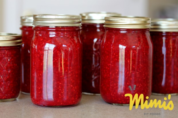 Fresh Raspberry Freezer Jam With Agave Nectar - Mimi's Fit Foods