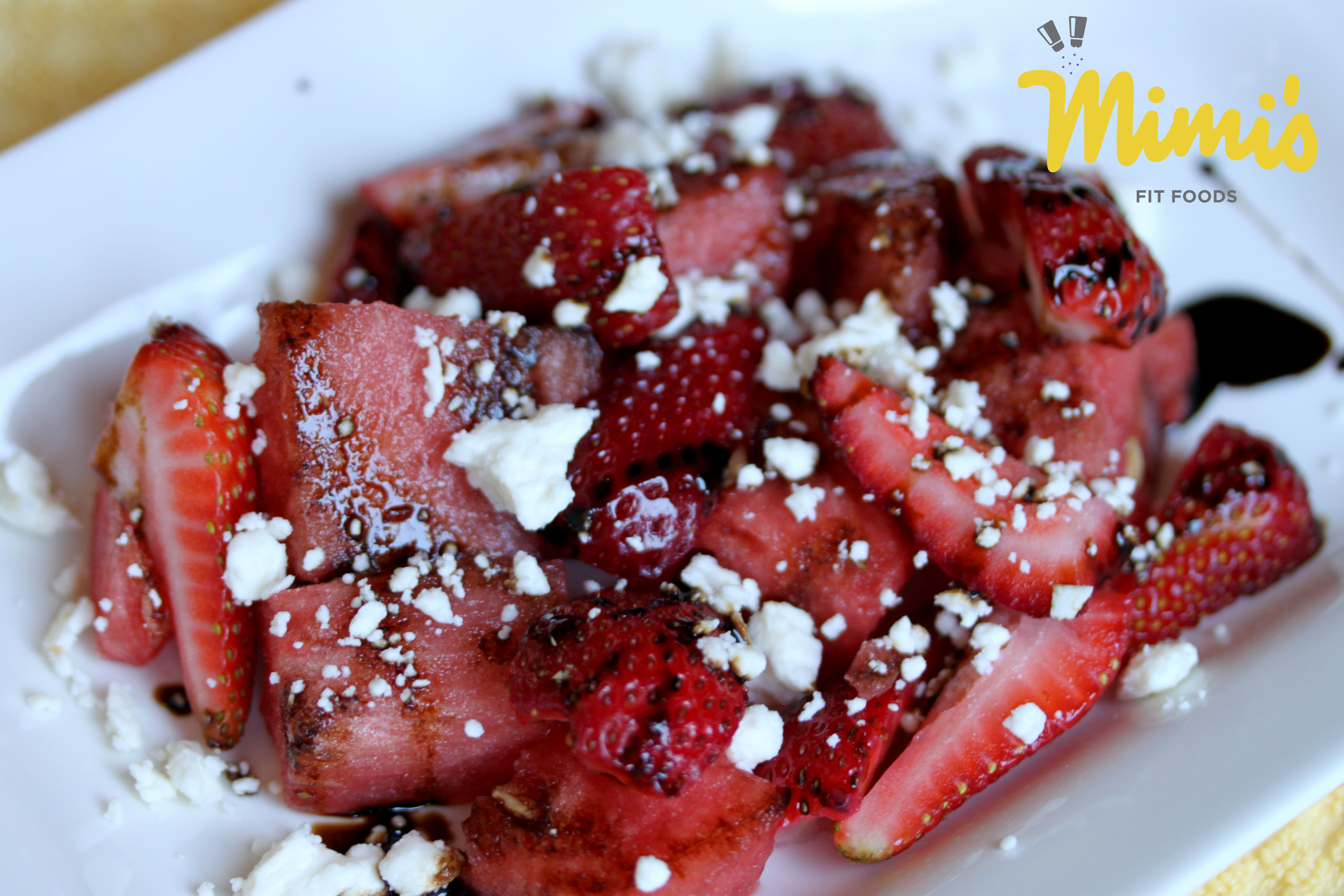 Watermelon, Strawberry, and Feta Salad With Balsamic Reduction | Mimi ...