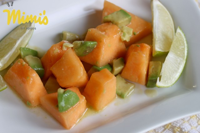 Cantaloupe and Avocado Salad - Mimi's Fit Foods