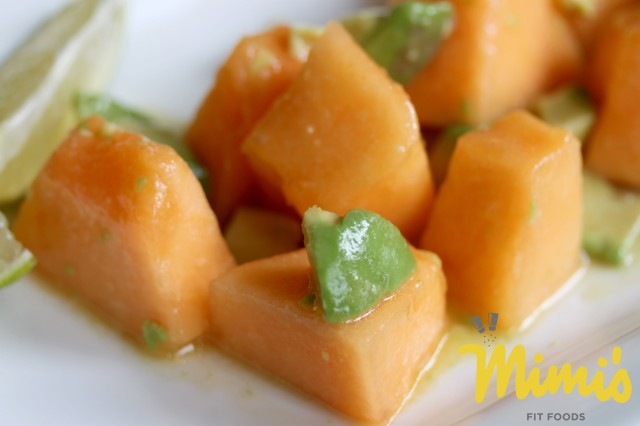 Cantaloupe and Avocado Salad2 - Mimi's Fit Foods