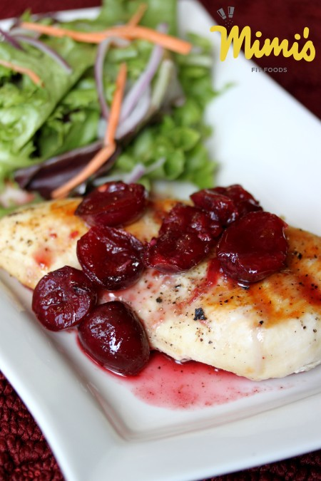 Grilled Chicken With Sweet and Spicy Cherry Sauce - Mimi's Fit Foods
