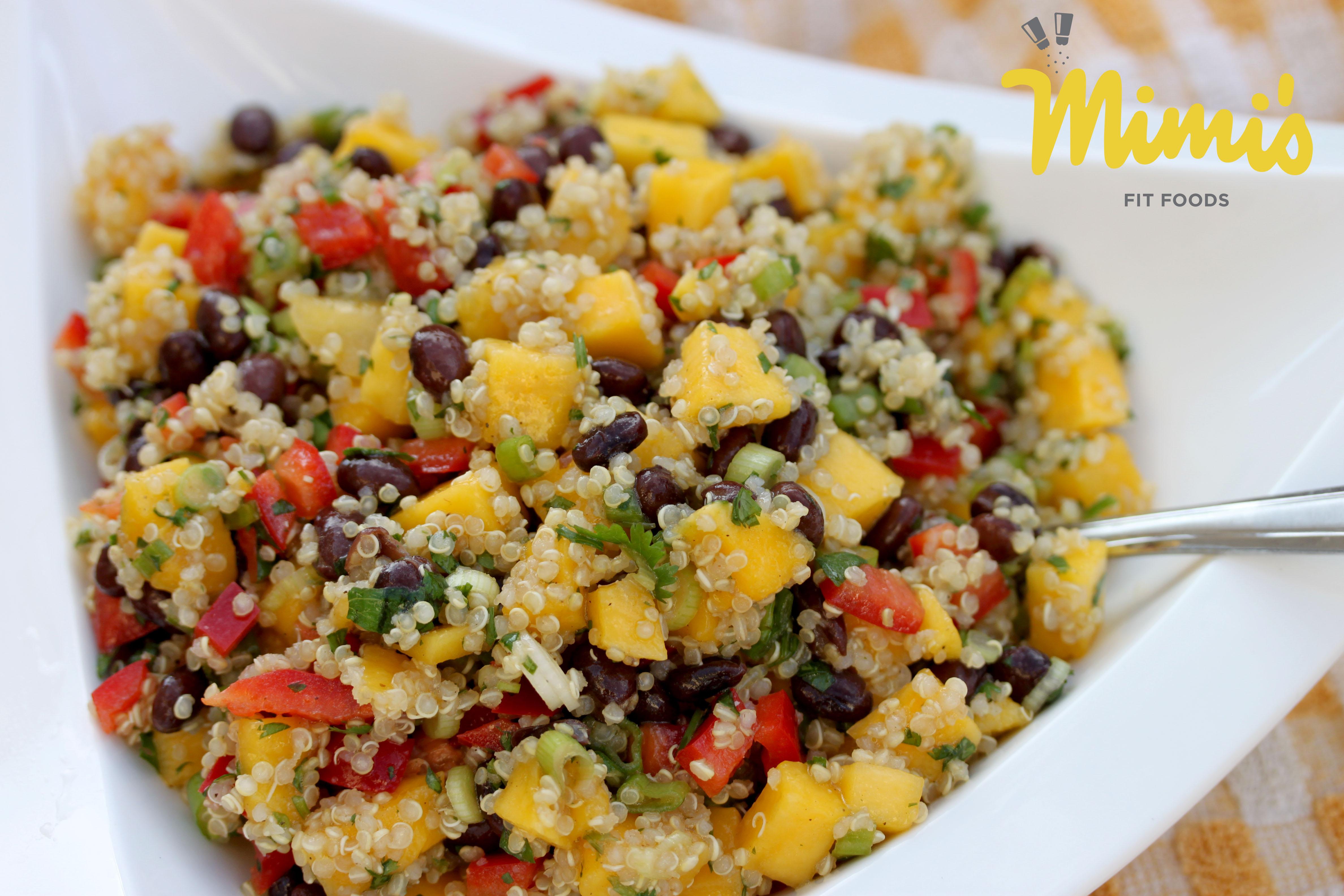 Mango Quinoa Salad with Black Beans - Mimi's Fit Foods