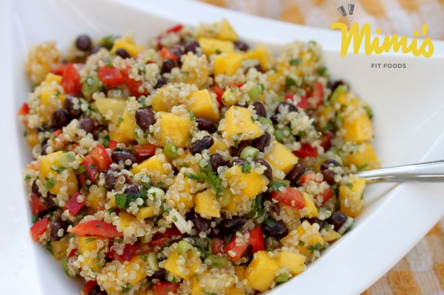 Mango Quinoa Salad with Black Beans - Mimi's Fit Foods