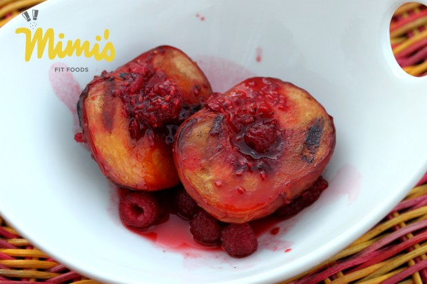 Grilled Peaches With a Raspberry-Lime Marinade - Mimi's Fit Foods