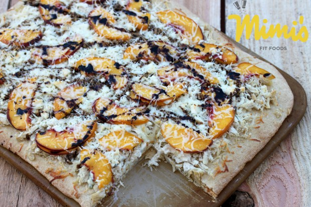 Peach and Blue Cheese Chicken Pizza - Mimi's Fit Foods