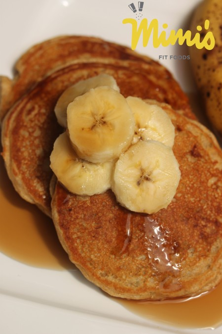 Whole Wheat Banana Protein Pancakes - Mimi's Fit Foods
