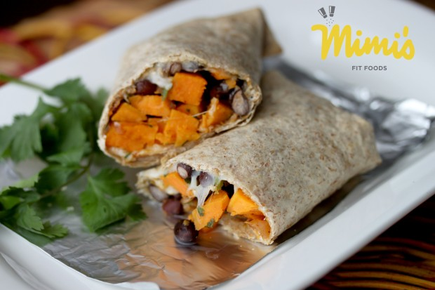 Black Bean and Sweet Potato Burritos - Mimi's Fit Foods