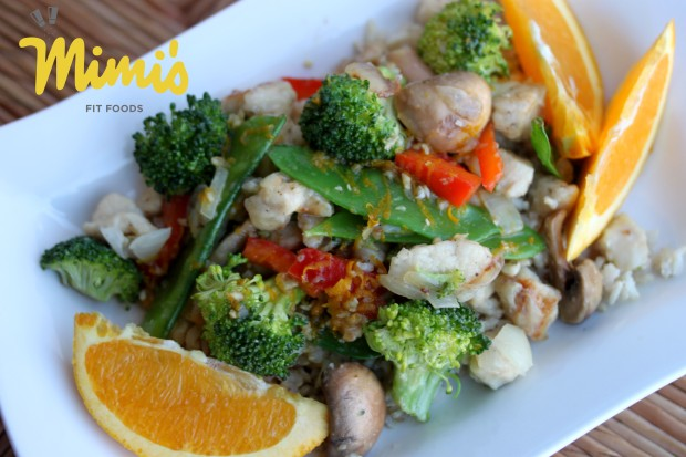 Orange Chicken and Veggie Stir-Fry - Mimi's Fit Foods