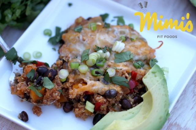 Black Bean and Quinoa Enchilada Casserole | Mimi's Fit Foods