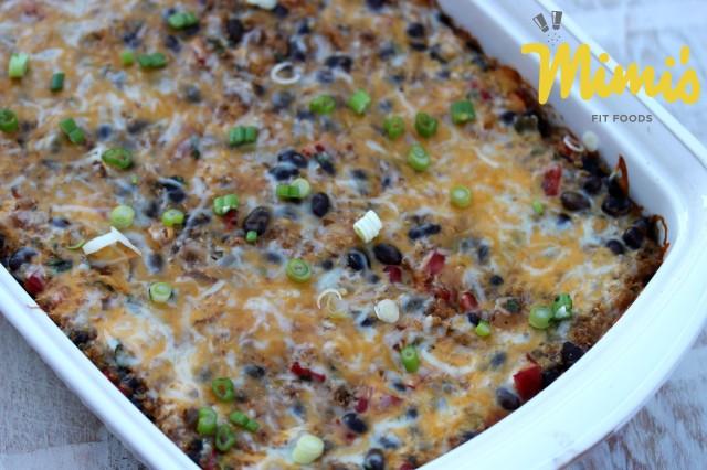 Black Bean and Quinoa Enchilada Casserole (Whole) - Mimi's Fit Foods