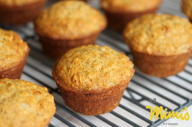 Fit Banana Muffins with Coconut Oil and Honey - Mimi's Fit Foods