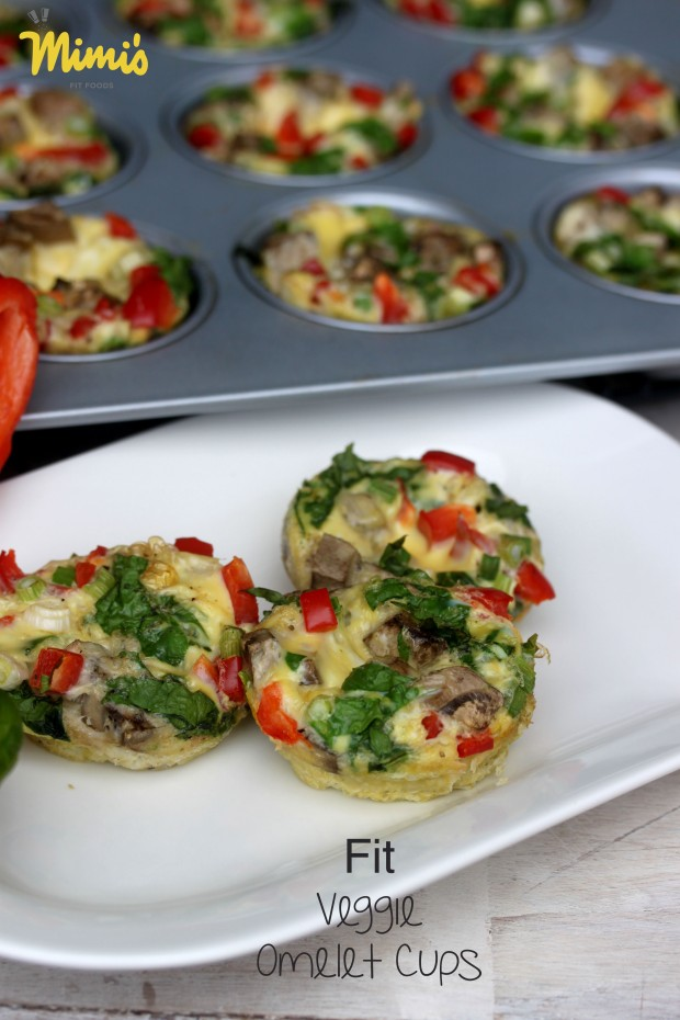 Fit Veggie Omelet Cups | Mimi's Fit Foods