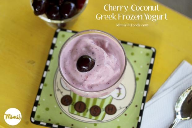 Cherry-Coconut Greek Frozen Yogurt | Mimi's Fit Foods