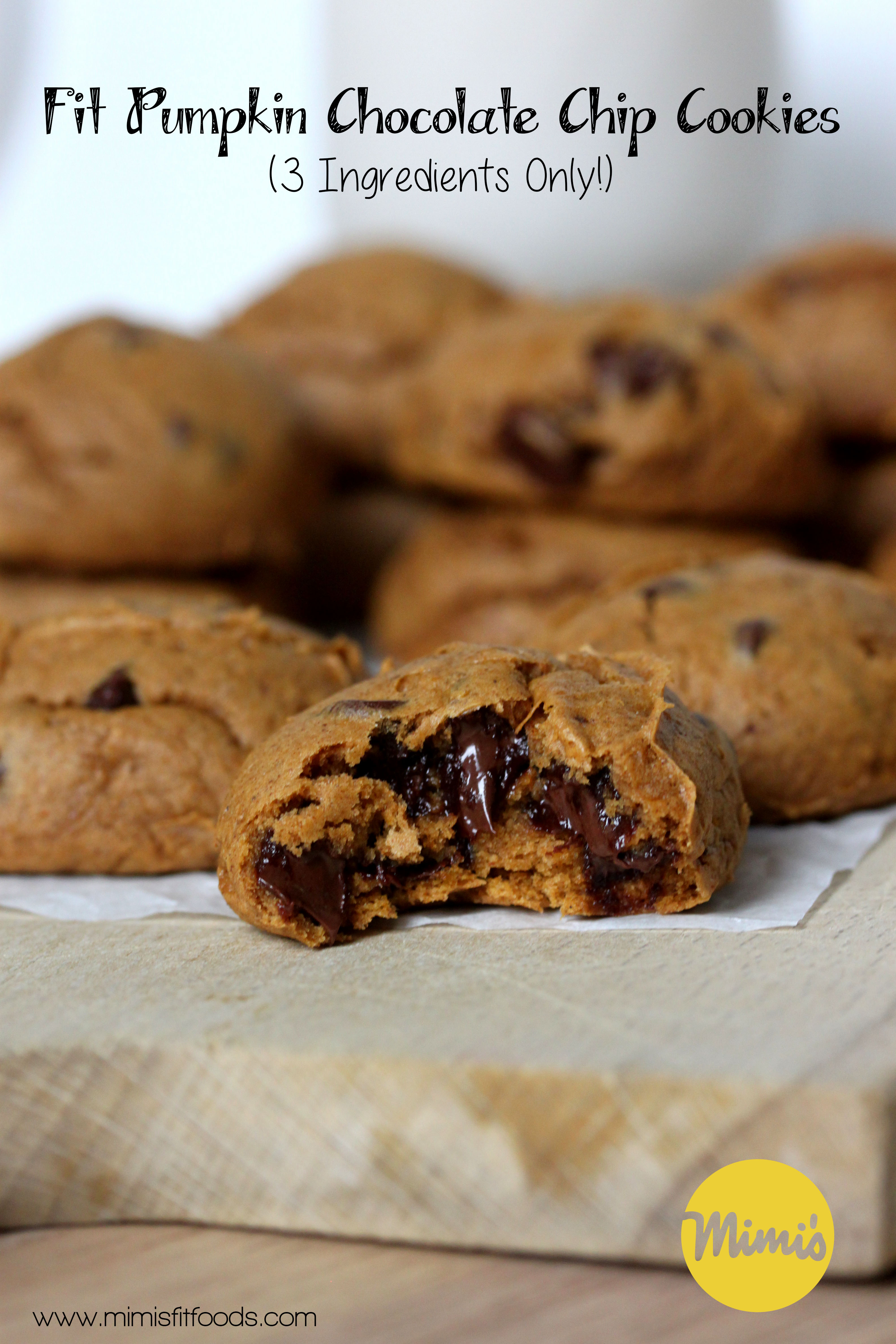 Fit Pumpkin Chocolate Chip Cookies | Mimi's Fit Foods