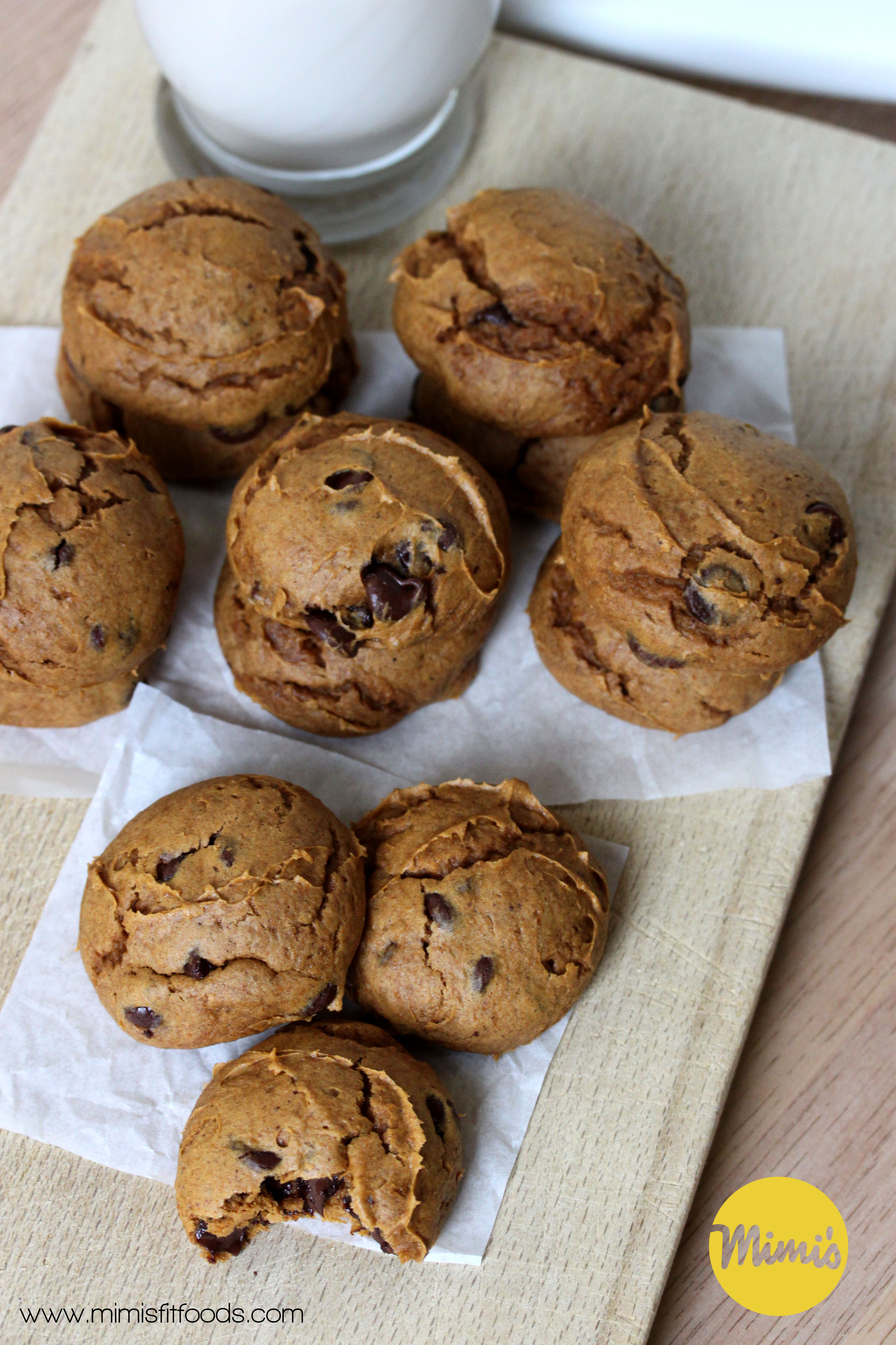Fit Pumpkin Chocolate Chip Cookies || Mimi's Fit Foods
