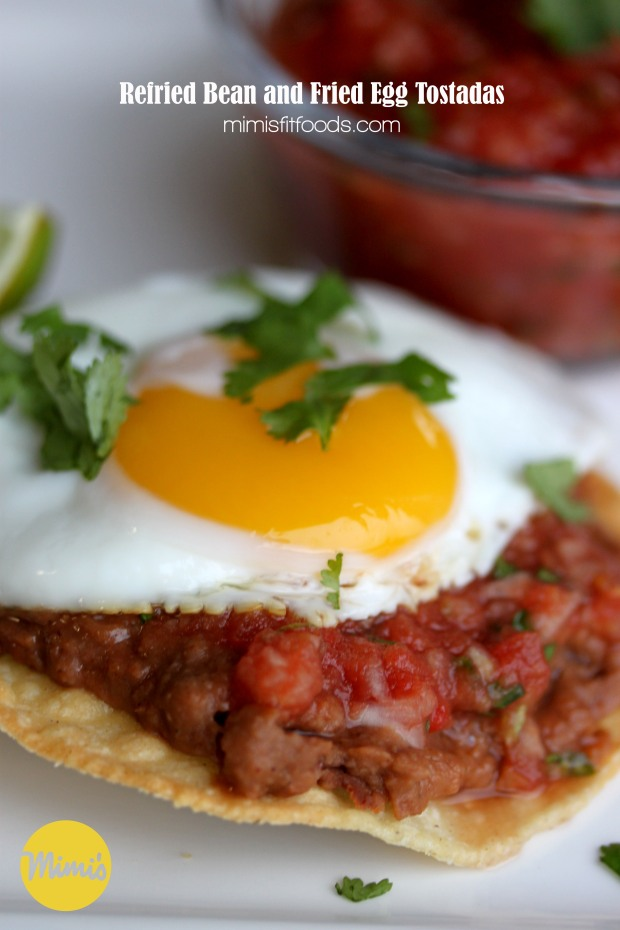 Refried Bean and Fried Egg Tostadas | Mimi's Fit Foods